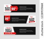 black friday sale banner... | Shutterstock .eps vector #1228935868