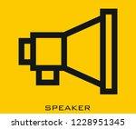 speaker icon signs | Shutterstock .eps vector #1228951345