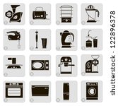 compilation of vector icons of... | Shutterstock .eps vector #122896378
