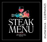 steak menu card design concept  ... | Shutterstock . vector #1228964425