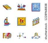 chemistry element icon set.... | Shutterstock .eps vector #1228968838