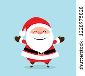christmas greeting card with... | Shutterstock .eps vector #1228975828