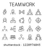 teamwork related vector icon... | Shutterstock .eps vector #1228976845