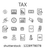 tax related vector icon set.... | Shutterstock .eps vector #1228978078