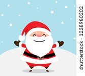 christmas greeting card with... | Shutterstock .eps vector #1228980202