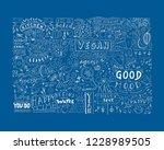 sketchy food  vegan doodle art...   Shutterstock .eps vector #1228989505