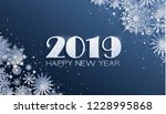 paper cut snow flake greeting... | Shutterstock .eps vector #1228995868