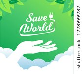 ecology concept. save world... | Shutterstock .eps vector #1228999282
