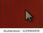 macro photo of mouse cursor