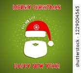 christmas background with santa ... | Shutterstock .eps vector #1229004565