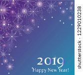 happy new year and merry... | Shutterstock .eps vector #1229010238
