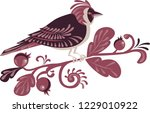 decoration birds on branches | Shutterstock .eps vector #1229010922