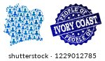 people composition of blue... | Shutterstock .eps vector #1229012785