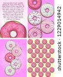stock vector set of poster card ... | Shutterstock .eps vector #1229014942