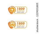 nurses   doctors call logo... | Shutterstock .eps vector #1229031805