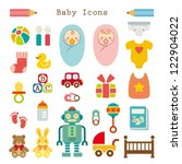 baby icons set | Shutterstock .eps vector #122904022
