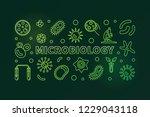 microbiology green horizontal...   Shutterstock .eps vector #1229043118