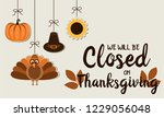 thanksgiving card  we will be... | Shutterstock .eps vector #1229056048