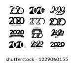 big set of 2019 text design... | Shutterstock .eps vector #1229060155