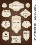 label set vintage with wooden... | Shutterstock .eps vector #122906092