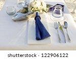 table decoration in outdoor...   Shutterstock . vector #122906122