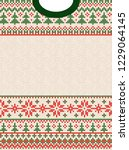 ugly sweater merry christmas... | Shutterstock .eps vector #1229064145