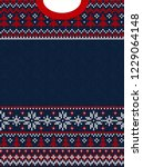 ugly sweater merry christmas... | Shutterstock .eps vector #1229064148