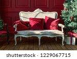 christmas tree in royal... | Shutterstock . vector #1229067715