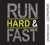 run hard and fast athletic... | Shutterstock .eps vector #1229069635