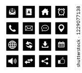 web icon set vector  contact us ... | Shutterstock .eps vector #1229077138