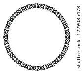 vector circular frame. celtic...   Shutterstock .eps vector #1229085478