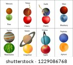 planets of the solar system.... | Shutterstock .eps vector #1229086768