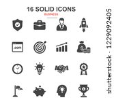 16 business icon set.... | Shutterstock .eps vector #1229092405
