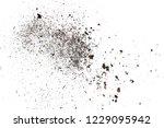 pile dust dirt isolated on... | Shutterstock . vector #1229095942