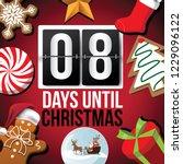 countdown to christmas flip...   Shutterstock .eps vector #1229096122