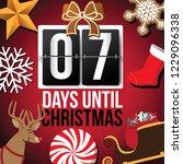 countdown to christmas flip...   Shutterstock .eps vector #1229096338