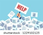 vector of a businessman in need ... | Shutterstock .eps vector #1229102125