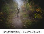 soldier with a rocket launcher... | Shutterstock . vector #1229105125