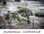 soldiers in military training | Shutterstock . vector #1229105128