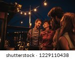 group of friends at boat party | Shutterstock . vector #1229110438