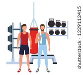 fitness people training | Shutterstock .eps vector #1229112415