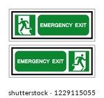 emergency exit symbol sign ... | Shutterstock .eps vector #1229115055