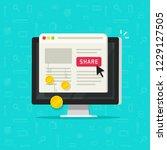 per pay click or cost per click ... | Shutterstock . vector #1229127505