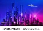 night city background  with... | Shutterstock .eps vector #1229129218