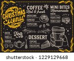 christmas menu template for... | Shutterstock .eps vector #1229129668