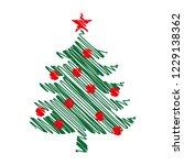 christmas tree graphic art... | Shutterstock .eps vector #1229138362