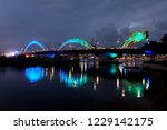 cao rong dragon bridge lit up... | Shutterstock . vector #1229142175