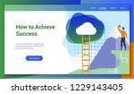 how to achieve success flat...   Shutterstock .eps vector #1229143405
