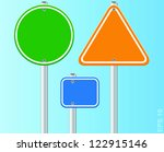 set of traffic road signs.... | Shutterstock .eps vector #122915146