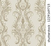 vector damask seamless pattern... | Shutterstock .eps vector #1229169715